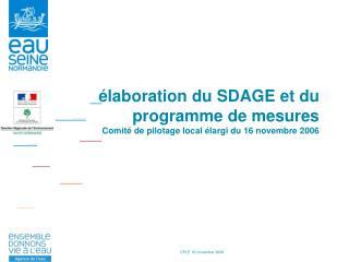 SDAGE / Programme de mesures