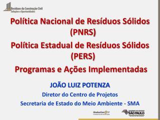 Política Nacional de Resíduos Sólidos (PNRS)  Política Estadual de Resíduos Sólidos (PERS)