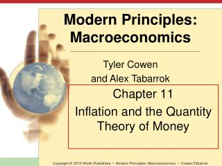 Chapter 11 Inflation and the Quantity Theory of Money