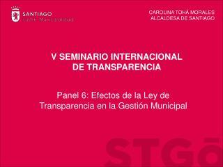 V SEMINARIO INTERNACIONAL DE TRANSPARENCIA