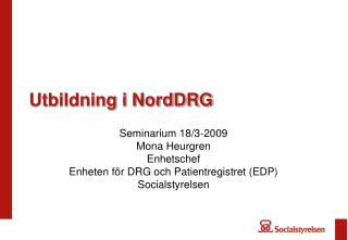 Utbildning i NordDRG
