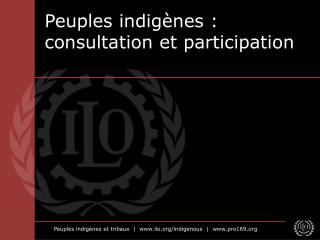 Peuples indigènes: consultation et participation