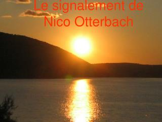 Le signalement de Nico Otterbach