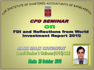 THE INSTITUTE OF CHARTERED ACCOUNTANTS OF BANGLADESH