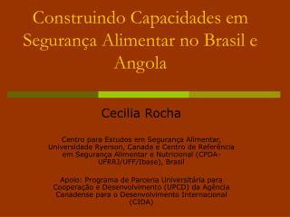 Construindo Capacidades em Segurança Alimentar no Brasil e Angola