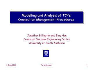 Modelling and Analysis of TCP's Connection Management Procedures
