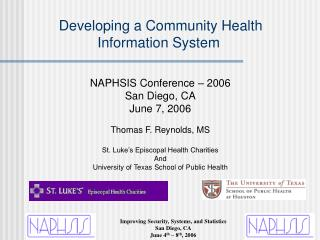 Developing a Community Health Information System