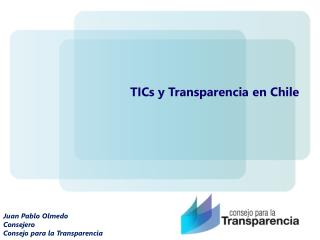 Juan Pablo Olmedo Consejero Consejo para la Transparencia