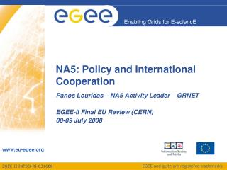 NA5: Policy and International Cooperation
