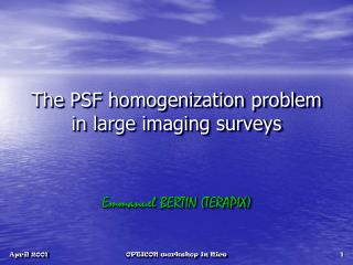 The PSF homogenization problem in large imaging surveys