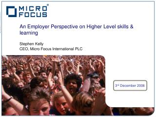 An Employer Perspective on Higher Level skills & learning