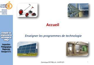 Enseigner les programmes de technologie