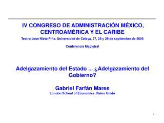 IV CONGRESO DE ADMINISTRACIÓN MÉXICO, CENTROAMÉRICA Y EL CARIBE