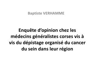 Baptiste VERHAMME