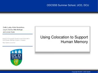 Using Colocation to Support Human Memory