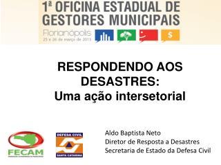 RESPONDENDO AOS DESASTRES: Uma ação intersetorial