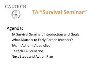 "TA ""Survival Seminar"""