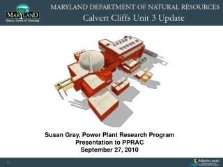 Susan Gray, Power Plant Research Program Presentation to PPRAC September 27, 2010
