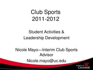 Club Sports 2011-2012