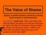 The Value of Shame