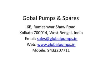 Gobal Pumps & Spares