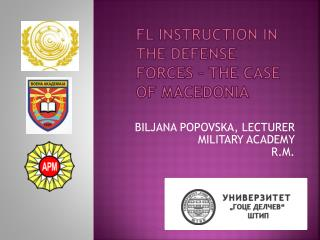 Fl instruction in the defense forces – the case of Macedonia