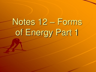 Energy Stored in Chemical Bonds