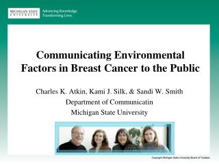 Communicating Environmental Factors in Breast Cancer to the Public
