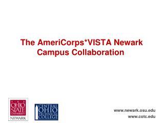 The AmeriCorps*VISTA Newark  Campus  Collaboration
