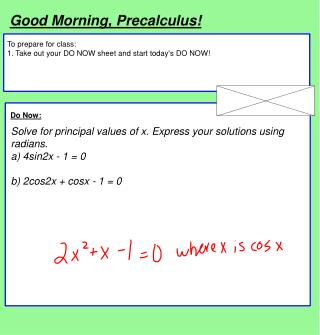 Good Morning, Precalculus!