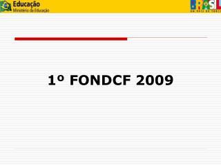 1� FONDCF 2009