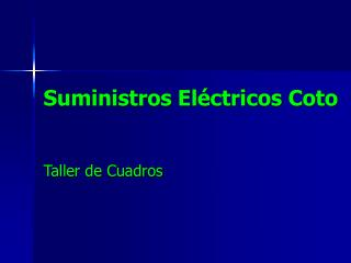 Suministros Eléctricos Coto
