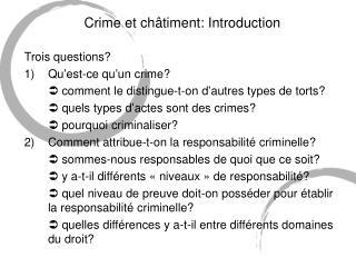 Crime et ch âtiment: Introduction