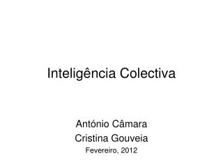 Intelig�ncia Colectiva
