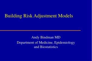 Building Risk Adjustment Models