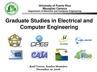 University of Puerto Rico Mayag�ez Campus Department of Electrical and Computer Engineering