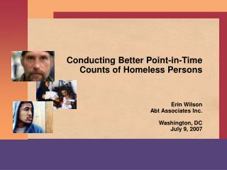 Conducting Better Point-in-Time Counts of Homeless Persons