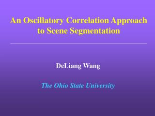 An Oscillatory Correlation Approach to Scene Segmentation