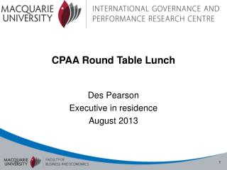 CPAA Round Table Lunch