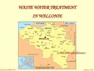 WASTE WATER TREATMENT  IN WALLONIE