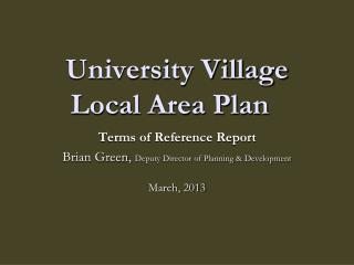 University Village Local Area Plan
