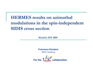 HERMES results on azimuthal modulations in the spin-independent SIDIS cross section