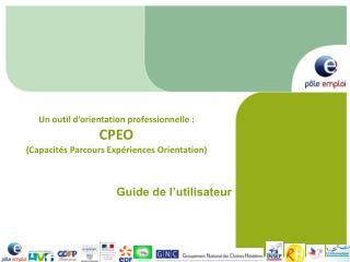 Un outil d'orientation professionnelle : CPEO (Capacités Parcours Expériences Orientation)