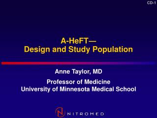 A-HeFT Design and Study Population