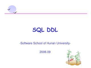 SQL DDL