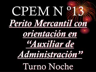CPEM N º13