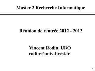 Réunion de rentrée 2012 - 2013