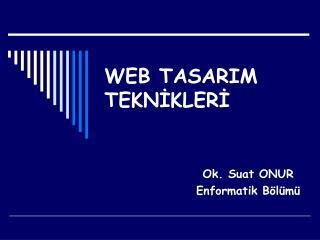 WEB TASARIM TEKNİKLERİ
