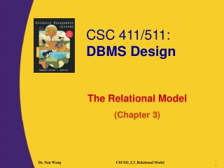 The Relational Model (Chapter 3)
