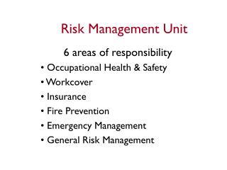 Risk Management Unit
